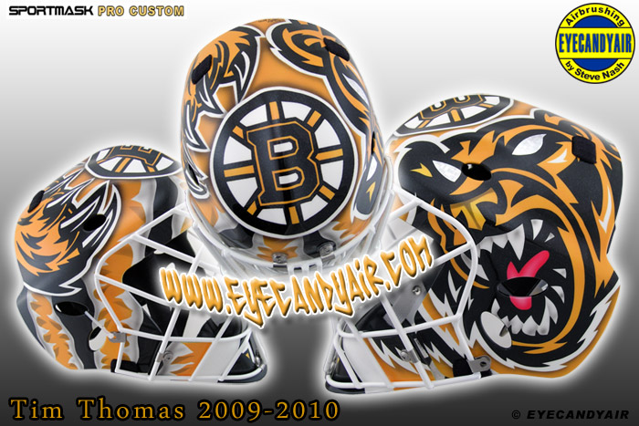 boston bruins bear pictures. 2010 Tim Thomas Boston Bruins
