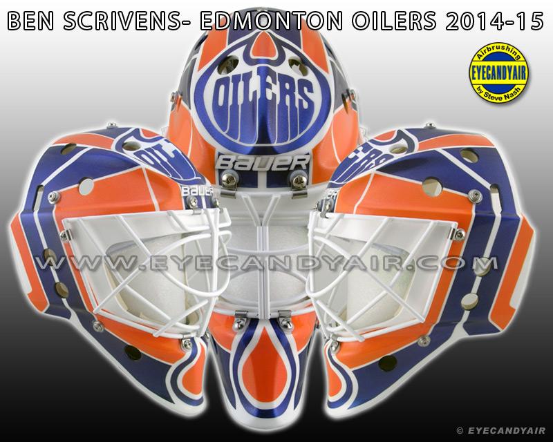 Ben Scrivens 2014-15 Edmonton Oilers Bauer Goalie Mask ...