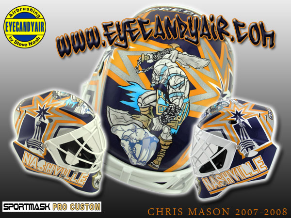 Chris Mason Custom Airbrush Painted Sportmask Pro Custom by EYECANDYAIR