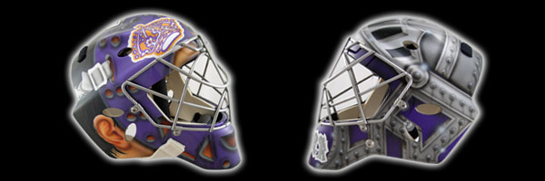 EYECANDYAIR Goalie Mask and Helmet Airbrush Design Services