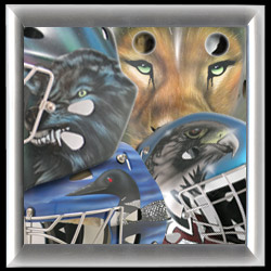 EYECANDYAIR Goalie Mask Archive Airbrushed Animal Designs Entrance