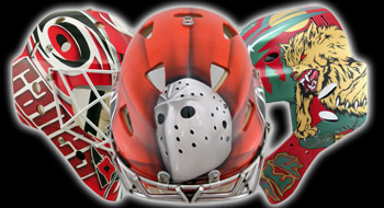 EYECANDYAIR Goalie Mask Airbrushing Painting