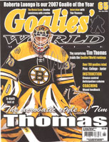Tim Thomas Goalies World EYECANDYAIR paint job